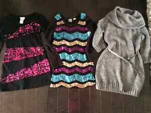 Super Cool VERY STYLISH dresses (sz 7/8) - two with sequins!