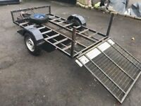 quad , motorbike or buggy trailer for sale with folding ramp ++++++++++++++++++++++