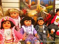 Brand new collectible Victorian dolls 30% Off
