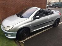 Peugeot 206cc Hardtop Convertible 1.6petrol 10Months MOT Leather seats. Would Swap for geared 125cc