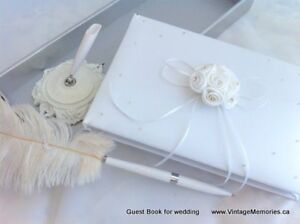 Brand new wedding parasol guest book accessaries Sale