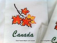 Brand New, Canadian Hand Towels with Maple leafs Great Souvenir