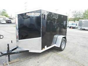 5x8 V-NOSE Enclosed Cargo/Toy Hauler w/ RAMP DOOR + EXTRAS