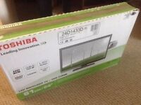 """Toshiba 24"""" TV with DVD player"""
