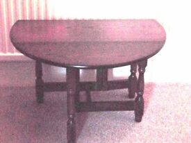 Top Quality Antique Oak folding coffee table NEW DISCOUNT PRICE