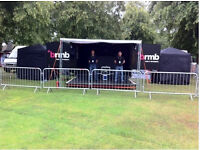 roadshow/broadcast trailer Fully equipped; plus, 8x12 stage and canopy