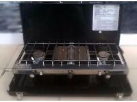 Hi gear Cooker 3-Burner Stove w/ Grill