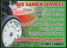Ace garden services / grass cutting & powerwashing servives falkirk