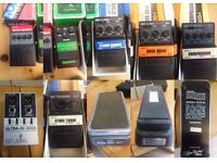 Job Lot Used 8 x Guitar pedals and 1 x DI unit - Vintage Colorsound Supa Wah Wah, Guyatone Compresso
