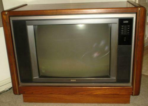 rca console tv ebay. Black Bedroom Furniture Sets. Home Design Ideas