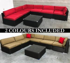 Outdoor Patio Furniture Wicker Set - 2 COLORS INCLUDED - 6476998240