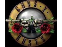 2 x Guns n Roses tickets for Werchter Festival, Belgium - Saturday 24 June