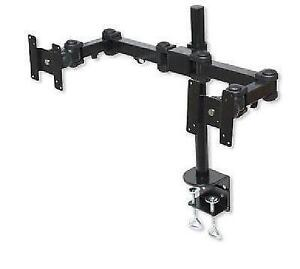 Manhattan Double LCD Monitor Hinged Pole Mount