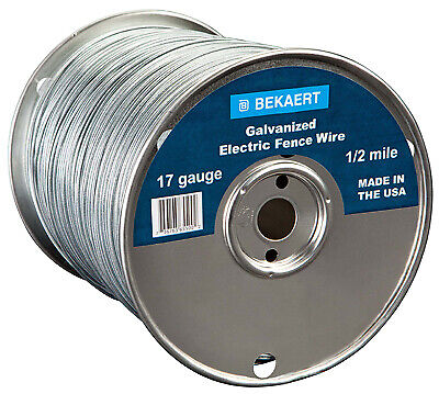 17-gauge Electric Fence Wire 2640-ft.