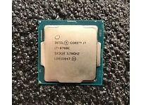 Intel i7 8700k 4.7Ghz 6 Cores 12 Threads LGA 1151 Gen 8 Gen 9 CPU Gaming Processor