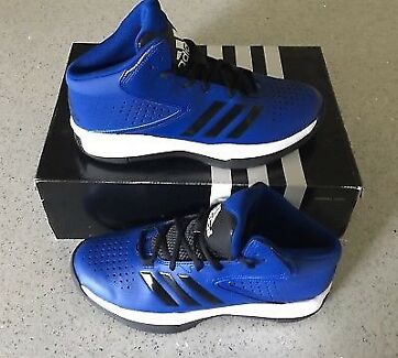 ADIDAS GENUINE HIGH PERFORMANCE BASKETBALL SHOES BRAND NEW IN BOX.
