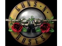 Guns n Roses Saturday 17th June London, 2 x seated tickets (block 205, row 66, seat 522 & 523) £300