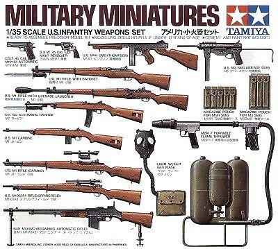 Tamiya 1/35 WWII US Infantry Weapons set 35121