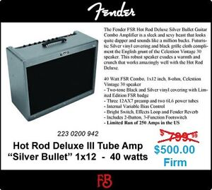 Fender Hot Rod III silver Bullet Limited Edition Amp