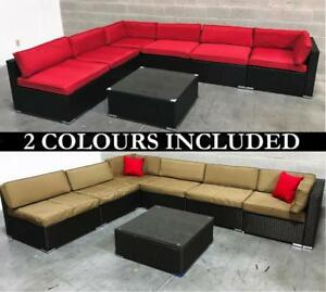 Outdoor Patio Furniture Wicker Set   2 COLORS INCLUDED   6476998240