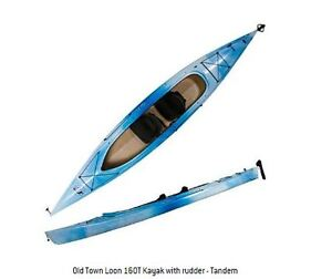 16 ft, old town kayak-with rudder