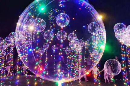 Wedding decorations in adelaide region sa miscellaneous goods 18transparent luminous led bubble balloon for bar wedding party junglespirit Choice Image