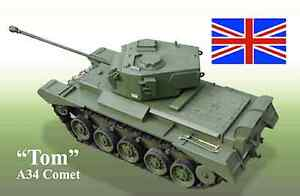 Plans for making a WWII British Comet Tank A34  - 1/12th Scale Model PLANS