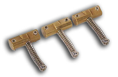 Brass Compensated/Staggered Tele Telecaster Bridge Saddle Set For Fender Guitar-