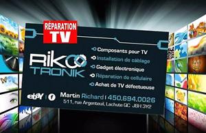 Réparation de tv plasma, LED, LCD, DEL.