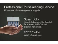 Professional Housekeeping Service. I take as much pride in your house as you do.