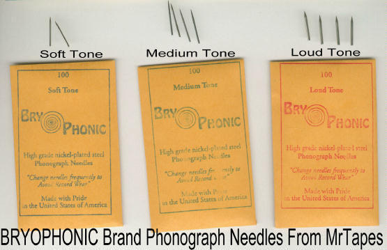 300 NEW Loud, Medium & Soft Tone STEEL PHONOGRAPH NEEDLES VICTROLA BRY-O-PHONIC
