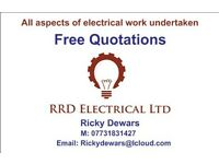 Electrician- All aspects of electrical work undertaken