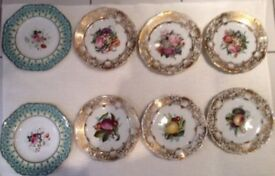 3 Small sets of Antique Plates