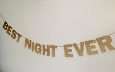 Best Night Ever Banner, New Years Eve Party Decor, Bachelorette Party