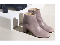 leather ankle boots by pure collection bnib size 6 rrp £199