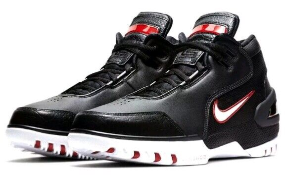 7842e2405e11 Nike Air LeBron Zoom Generation QS Size 15 Black White Varsity Crimson EUC!  WOW!