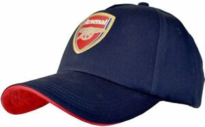 1b492dc7a29 ARSENAL FC MENS ADULT NAVY ADJUSTABLE BASEBALL CAP EMBROIDERED CREST SPORTS  HAT