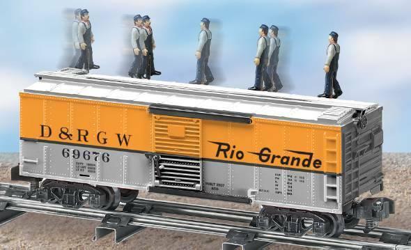 American Flyer 6-49038 S Scale Denver & Rio Grande Western Walking Brakeman Car