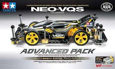 TAMIYA 95598 MINI 4WD NEO-VQS ADVANCED PACK (VZ CHASSIS) KIT MONTAGGIO 1/32