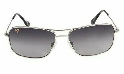 Maui Jim Wiki Wiki GS246-17 Silver / Neutral Grey Aviator Polarized Sunglasses (Aviator Sunglasses Wiki)