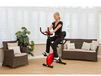 Bargain Folding Exercise Bike Comfort Plus Weight Loss/Diet/Cardio RRP £79 Red..