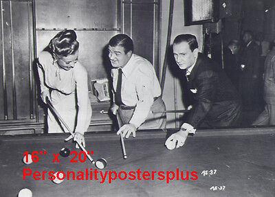 "Abbott & Costello~Playing Pool~Pool Hall~Billiards~Poster~16"" x 20"" Photo"