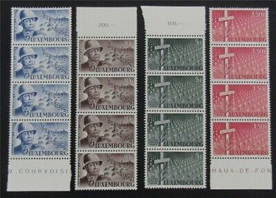 nystamps Luxembourg Stamp # 242-245 Mint OG NH $56   L23y3304