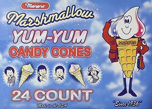 Marpo Marshmallow Cones 24 Count Nostalgic Candy