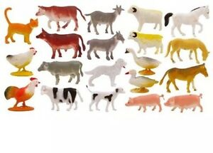10x Children's Kidz Mini Toy Farm Animal Play Figures Figurines Cow Pig Sheep...