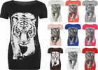 Short Sleeve T-Shirts Tiger Tops for Women