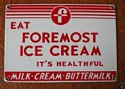 Porcelain Ice Cream Sign