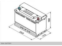 Heavy Duty Vehicle Battery for Vehicles from 2.5L to 4.0L