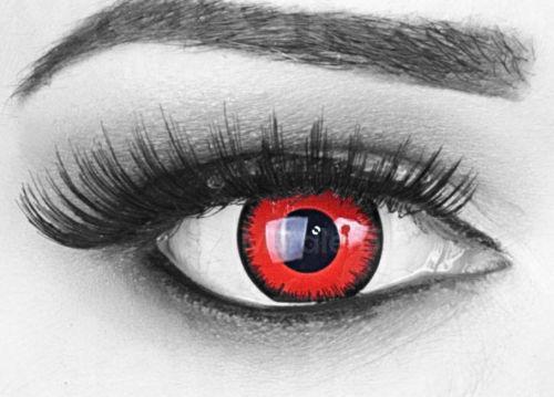 farbige kontaktlinsen rot ebay. Black Bedroom Furniture Sets. Home Design Ideas