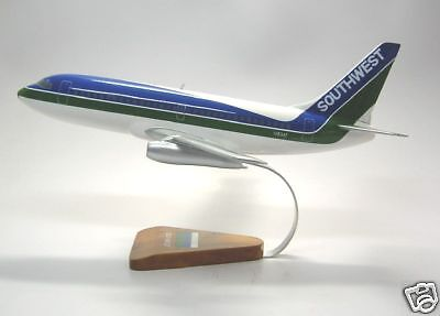 B 737 200 Southwest Air Boeing 737 Airplane Handcrafted Wood Model Large